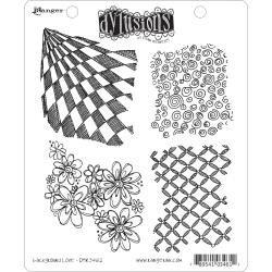 222433 Dyan Reaveley's Dylusions Cling Stamp Background Love