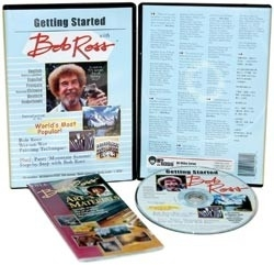 455990 Bob Ross Getting Started 1 Hour DVD
