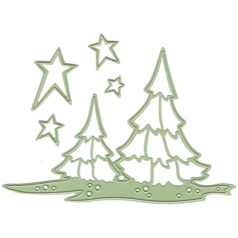458299 Lea`bilities Cut & Emboss Dies Scenery Trees