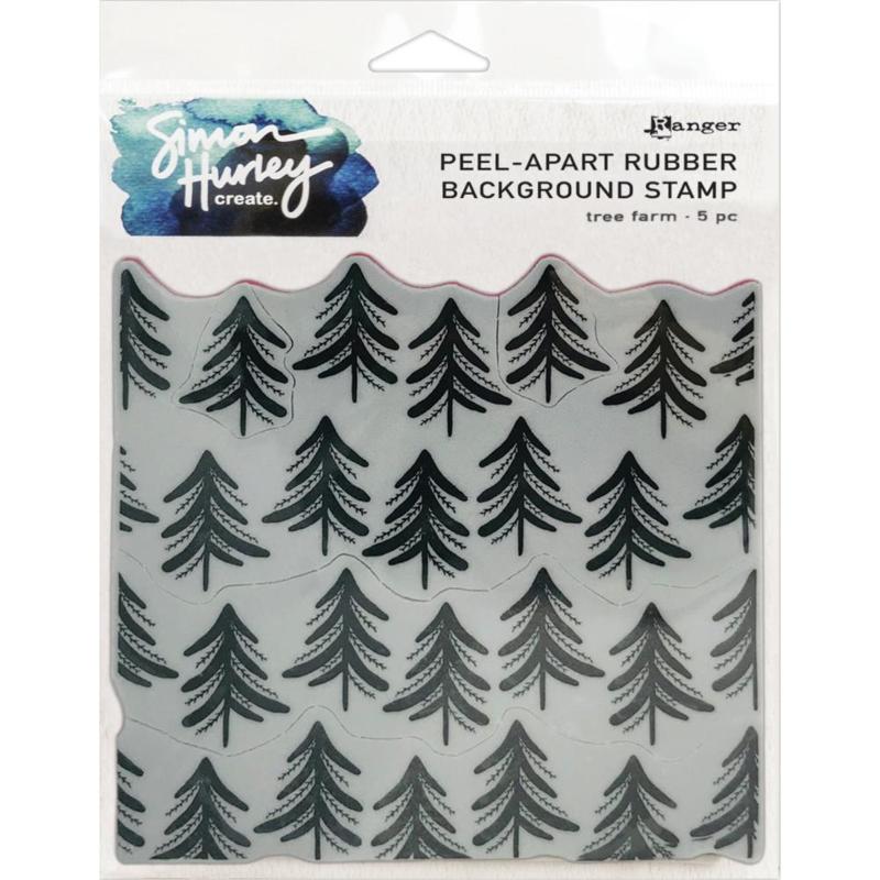 "HUR67 74328 Simon Hurley create. Cling Stamps Tree Farm 6""X6"""