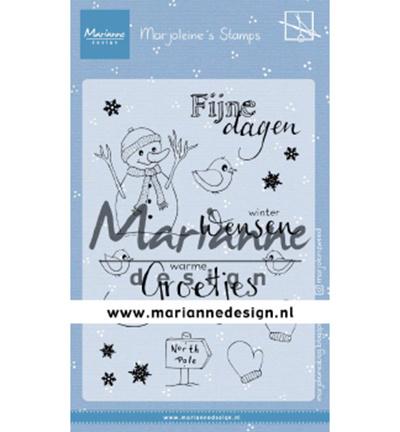 MZ1905 Marianne Design Clear stamp Marjoleine's Sneeuwman