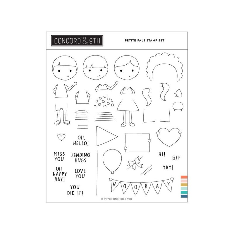 """651653 Concord & 9th Clear Stamps Petite Pals  6""""X6"""""""