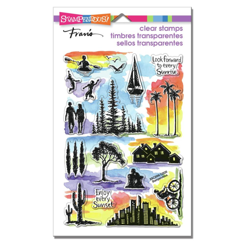 628810 Stampendous Perfectly Clear Stamps Sunrise Sunset