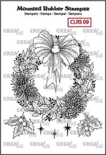 130505/5109 Crealies Mounted Rubber Stampzz no. 9 krans
