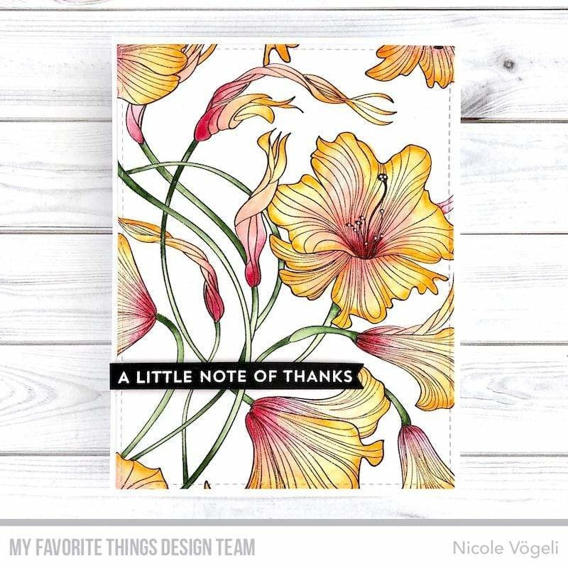 BG-127 My Favorite Things Harmonious Hibiscus Background Stamp