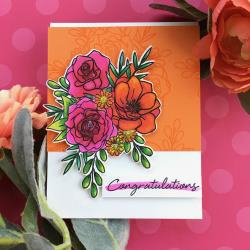 """621711 Hero Arts Clear Stamps Togetherness Flower Bouquet 4""""X6"""""""