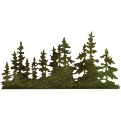 661604 Sizzix Thinlits Dies Tree Line By Tim Holtz