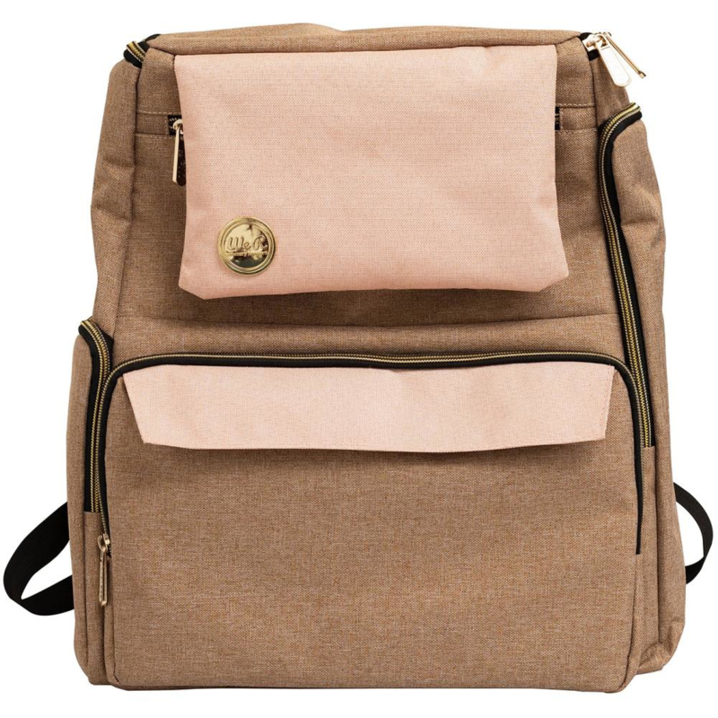 WR662909 We R Memory Keepers Crafter's Backpack Taupe & Pink