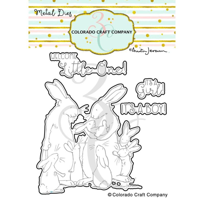 651204 Colorado Craft Company Metal Die Set New Baby-By Anita Jeram