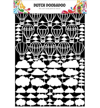 472.948.048 Dutch DooBaDoo Paper Art Airballoon/clouds