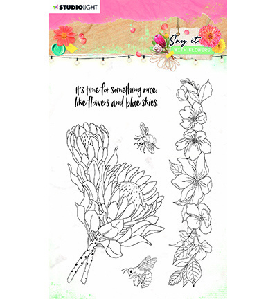 SL-SWF-STAMP524 StudioLight SL Clear Stamp Say it with flowers nr.524