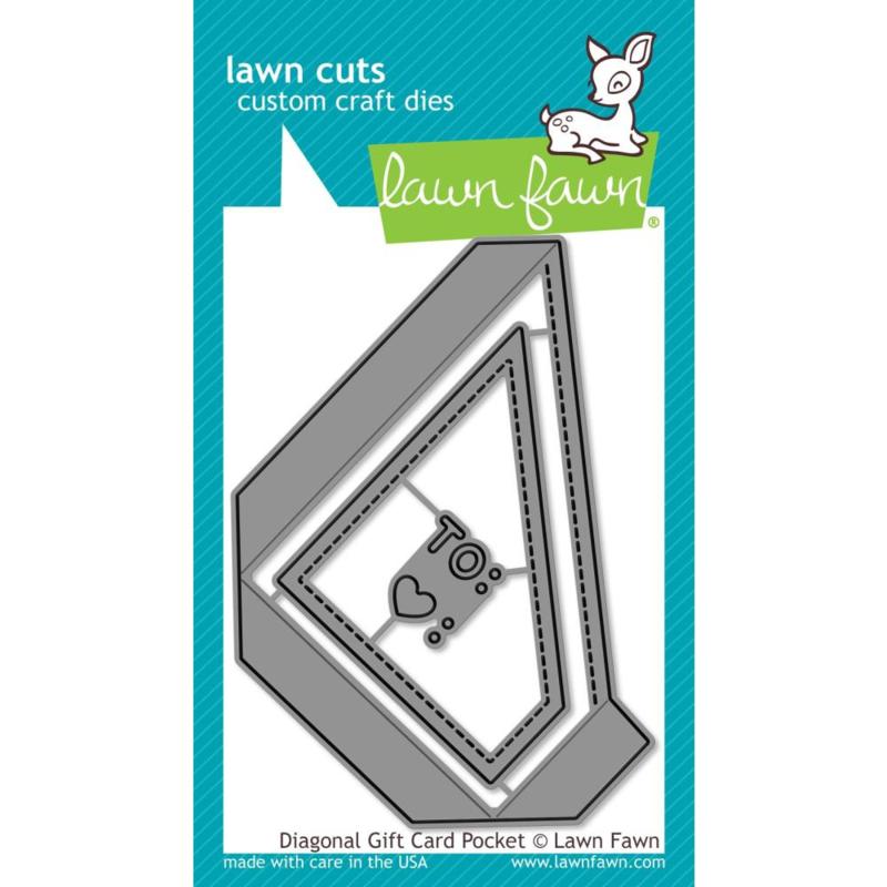 LF2045 Lawn Cuts Custom Craft Die Diagonal Gift Card Pocket