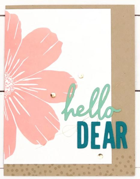"""625692 Concord & 9th Clear Stamps Forever Flower 6""""X6"""""""