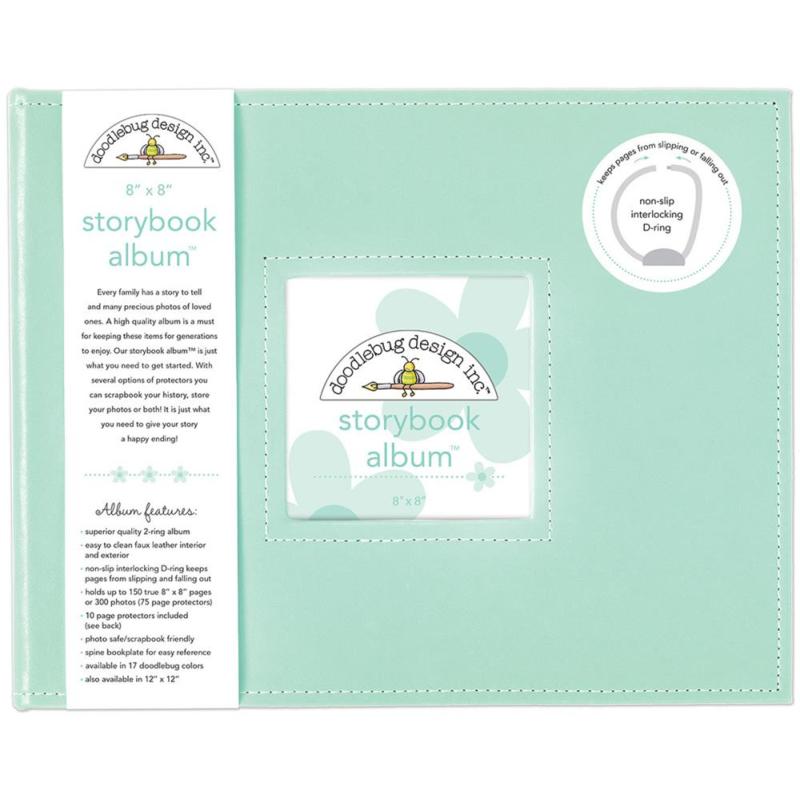 "095193 Doodlebug Storybook Album Mint 8""X8"""