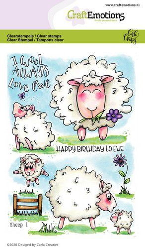 130501/1673 CraftEmotions clearstamps A6 Sheep 1 Carla Creaties