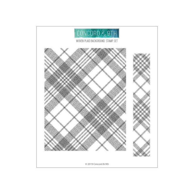 "603739 Concord & 9th Clear Stamps Woven Plaid Background 6""X6"""