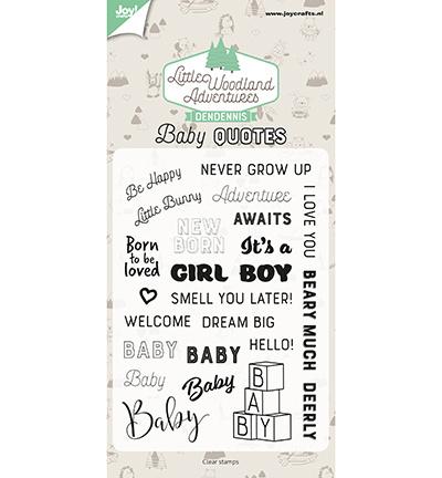 6410/0515 Stempel Dendennis Baby quotes