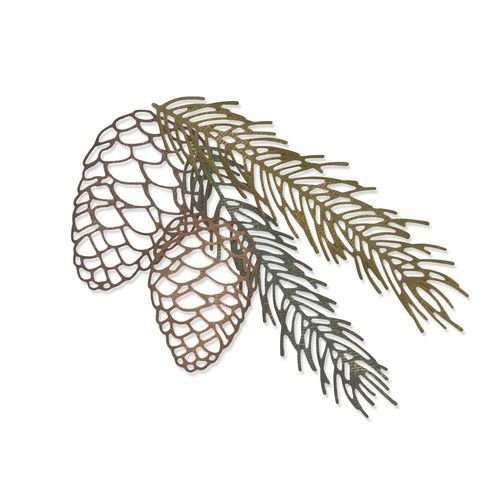664228 Sizzix Thinlits Die set Pine Branch by Tim Holtz 4PK