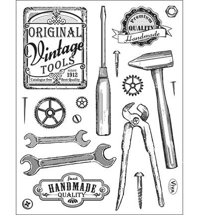 6998 Viva Decor Clear Stamps Vintage Tools