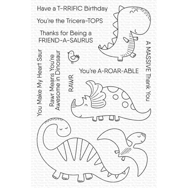 """CS483 My Favorite Things Clear Stamps A-roar-able 4""""X6"""""""