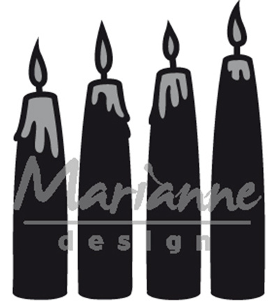 CR1425 Marianne Design Craftables Advent candles