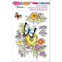 560404 Stampendous Perfectly Clear Stamps Flutters & Flowers