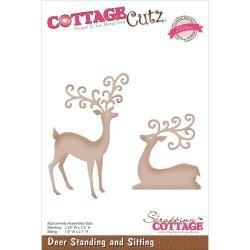 "506467 CottageCutz Elites Die Deer Sitting & Standing 1.9"" To 3.5"""