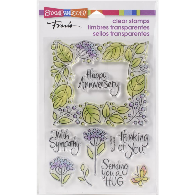 645705 Stampendous Perfectly Clear Stamps Leafy Frame