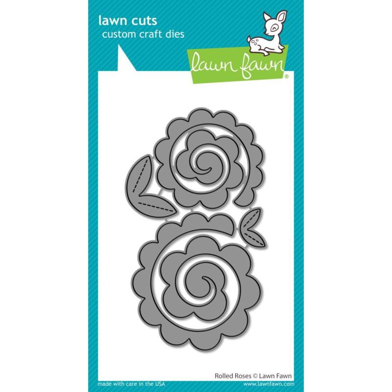 LF2259 Lawn Cuts Custom Craft Die Rolled Roses