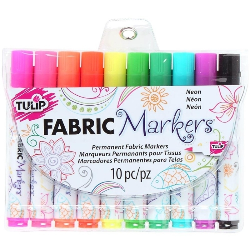 053753 Tulip Fabric Markers Neon