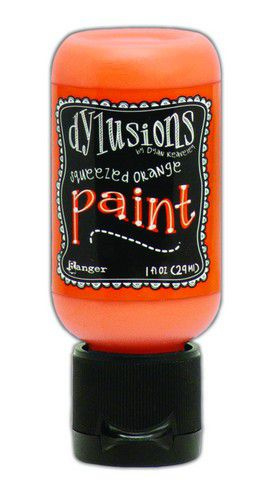 306610/0658 Ranger Dylusions Paint Flip Cap Bottle Squeezed Orange  29ml