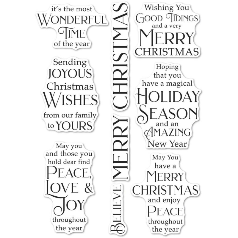640196 Poppystamps Clear Stamps Joyous Christmas