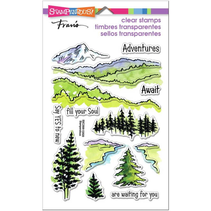 630719 Stampendous Perfectly Clear Stamps Adventure Awaits