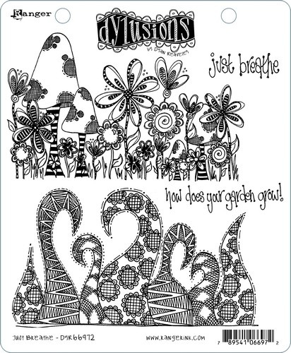 """568465 Dyan Reaveley's Dylusions Cling Stamp Collections Just Breathe 8.5""""X7"""""""