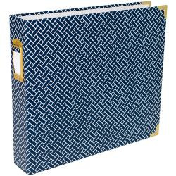"""457122 Project Life D-Ring Album Navy Weave 12""""X12"""""""