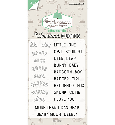 6410/0513 Clear Stamp Dendennis Woodland quotes