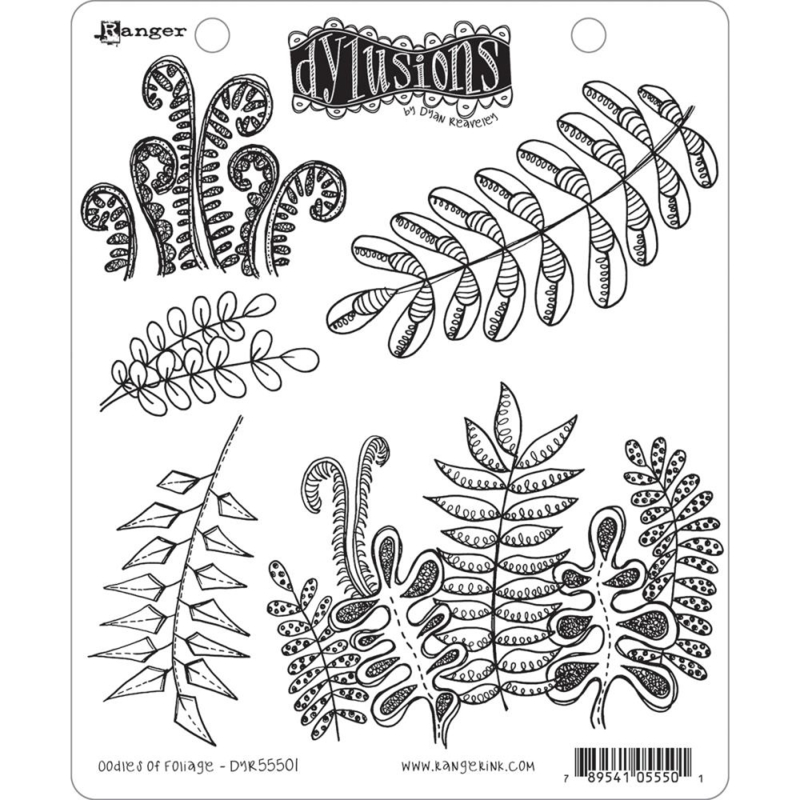 """466642 Dyan Reaveley's Dylusions Cling Stamp Collections Oodles Of Foliage 8.5""""X7"""""""