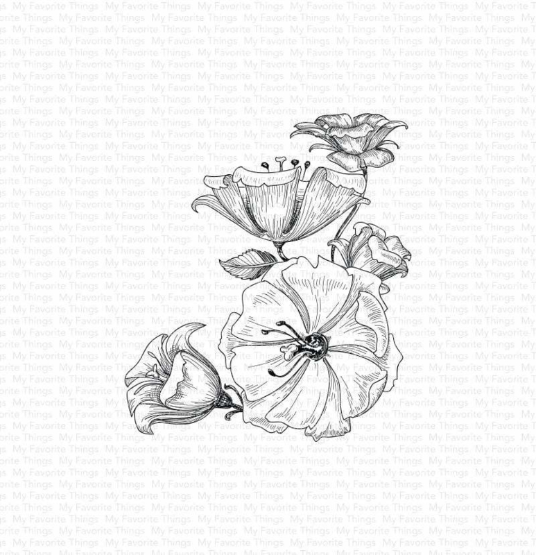 BG-118 My Favorite Things Floral Fantasy Rubber Stamp