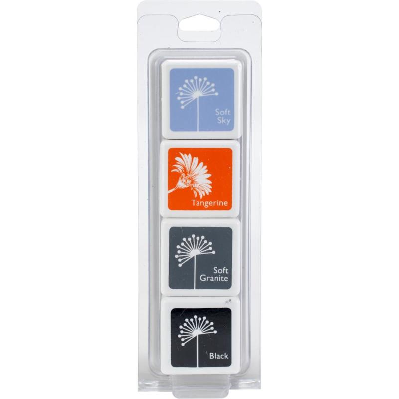 388502  Hero Arts Dye Ink Cubes 4 Colors Swan Layering