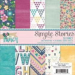 """445720 Simple Stories Double-Sided Paper Pad So Fancy 6""""X6"""""""