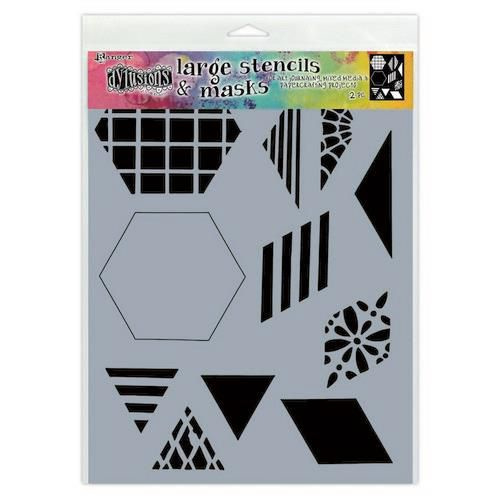 DYS75332 Ranger Dylusions Stencils 2 Inch Quilt Large