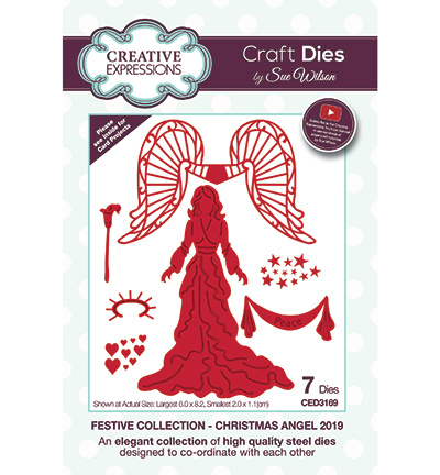 CED3169 Creative Expressions Christmas Angel 2019