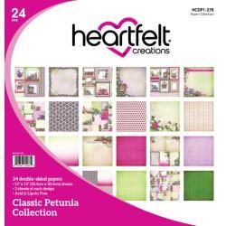 "446850 Heartfelt Creations Double-Sided Paper Pad Classic Petunia 12""X12"" 24/Pkg"