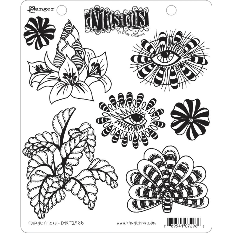 """617531 Dyan Reaveley's Dylusions Cling Stamp Collections 8.5""""X7"""""""