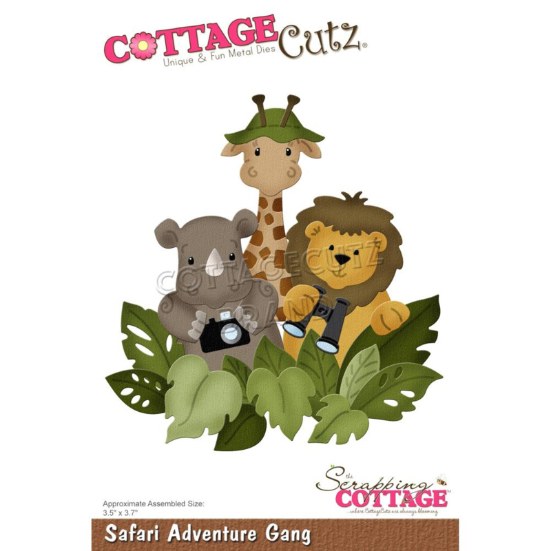 "CC838 CottageCutz Dies Safari Adventure Gang 3.5""X3.7"""