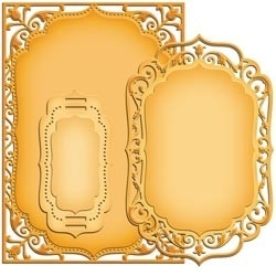 """S6-005 Spellbinders Nestabilities Card Creator 5""""X7"""" Dies Detailed Scallops"""