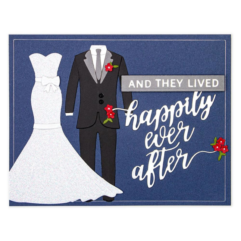 S2308 Spellbinders Shapeabilities Die D-Lites By Nichol Spohr Happily Ever After, Wedding Season