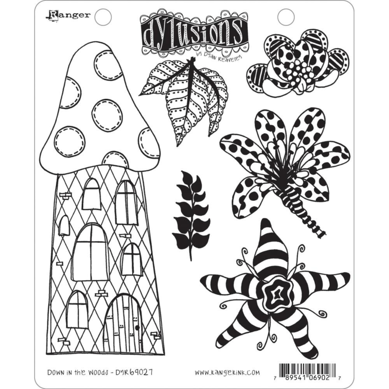 """602347 Dyan Reaveley's Dylusions Cling Stamp Collections Down In The Woods 8.5""""X7"""""""