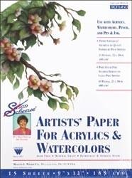 """457434 Susan Scheewe Watercolor Paper Pad 9""""X12"""""""