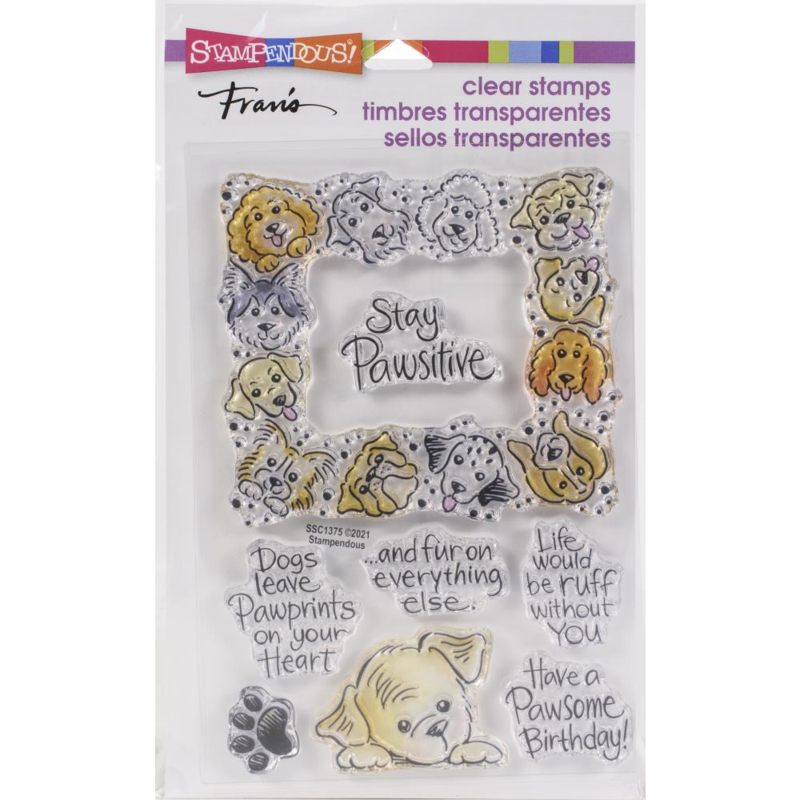 645709 Stampendous Perfectly Clear Stamps Puppy Frame